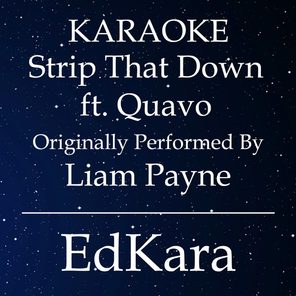 Strip That Down (Originally Performed by Liam Payne feat. Quavo) [Karaoke No Guide Melody Version]