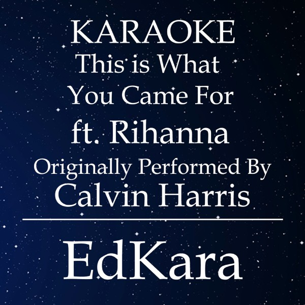 This is What You Came For (Originally Performed by Calvin Harris feat. Rihanna) [Karaoke No Guide Melody Version]