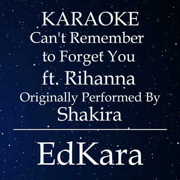 Can't Remember to Forget You (Originally Performed by Shakira feat. Rihanna) [Karaoke No Guide Melody Version]